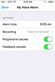 My Voice Alarm for iPhone / iPod touch